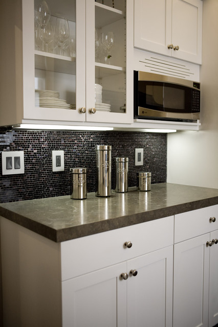 ge profile spacemaker microwave Kitchen Contemporary with above counter microwave backsplash