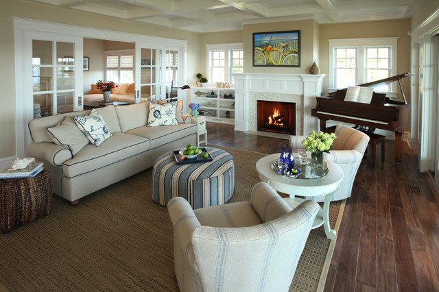 Gel Fireplaces Living Room Traditional with Beige Walls Coffered Ceiling