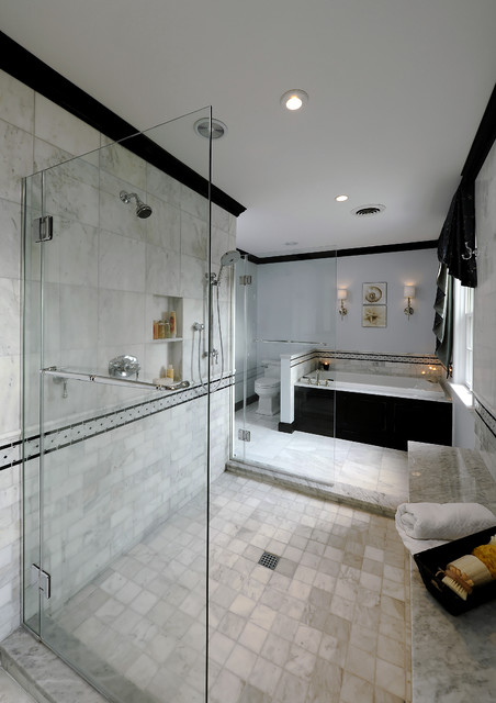 Gerber Toilet Bathroom Traditional with Accent Tiles Bathroom Tile