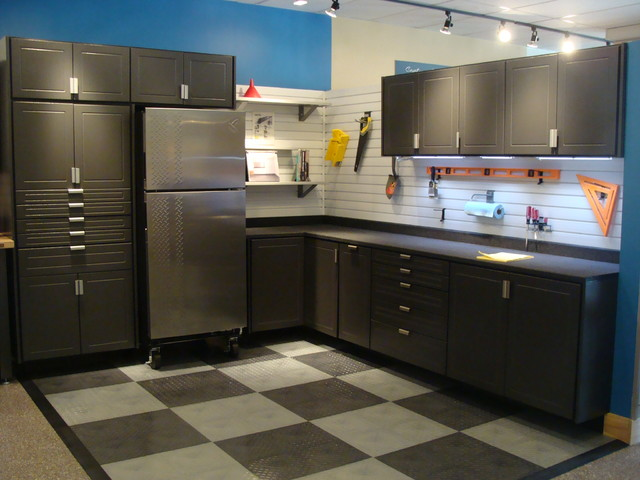 Gladiator Refrigerator Garage and Shed with Cabinets Epoxy Garage Cabinets