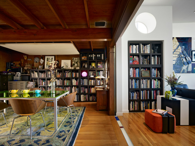 Glass Teapot with Infuser Dining Room Eclectic with Book Shelves Eclectic Green