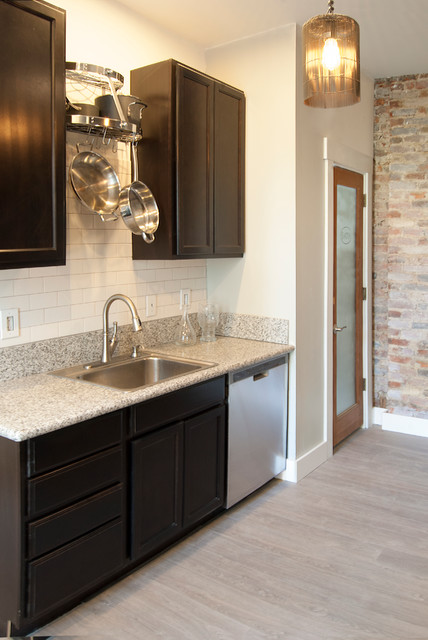Granite Countertop Cost Kitchen Eclectic with 3x6 Subway Tile Brick