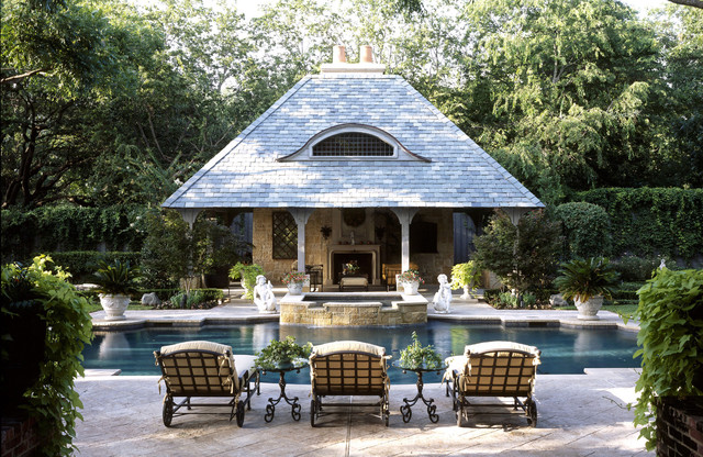 Gunite Pools Pool Traditional with Beige Outdoor Cushion Dallas