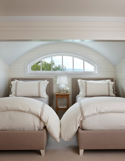 Hampton Hill Bedding Bedroom Traditional with Arch Window Barrel Ceiling
