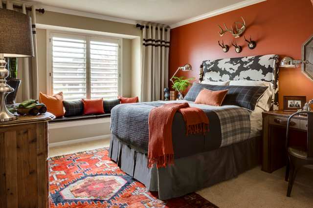 Hampton Hill Bedding Kids Traditional with Accent Wall Antique Rug