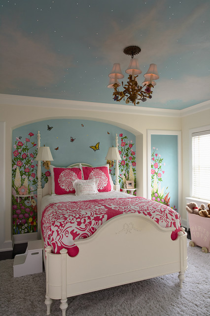 Hampton Hill Bedding Kids Traditional with Accent Wall Baseboards Bedroom
