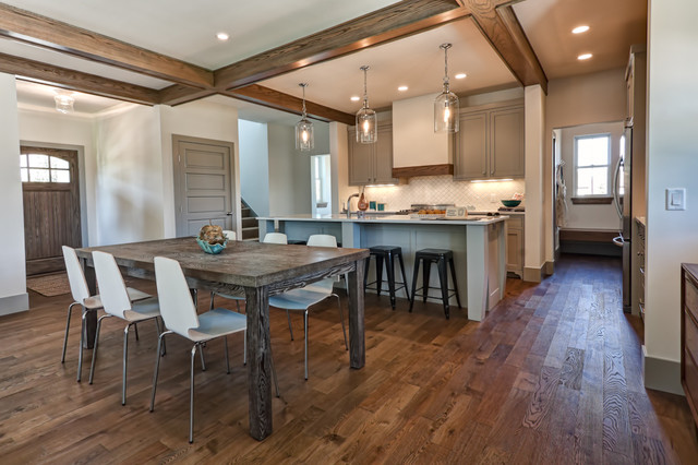 Hardwood Floor Buffer Dining Room Traditional with Brushed Brushed and Oiled