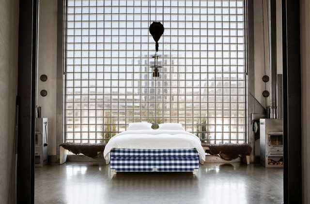 Hastens Mattress Bedroom Contemporary with Checkered Mattress Contemporary Contemporary
