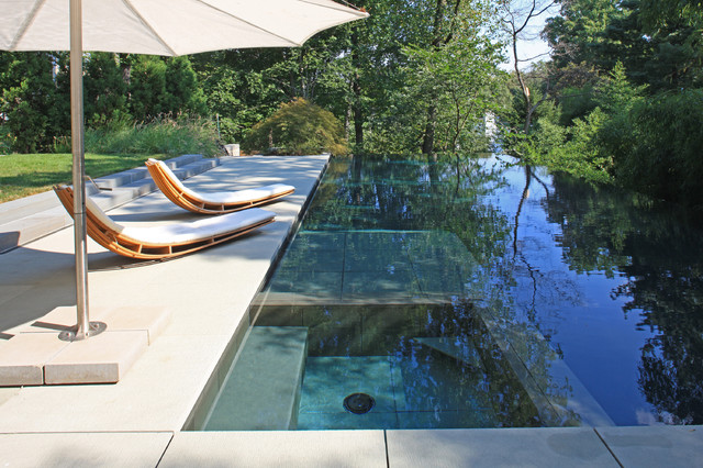 Hayward Pool Products Pool Modern with Aquascape Blue Outdoor Chaise