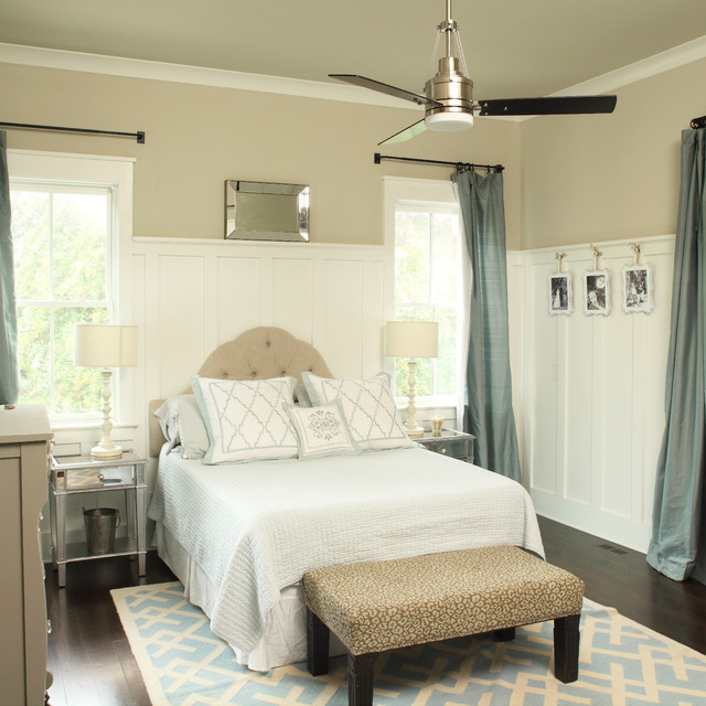 Hayworth Furniture Bedroom Transitional with Ceiling Fan Dark Wood