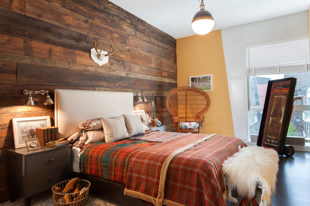 Holiday Flannel Sheets Bedroom Rustic with Antlers End of Bed