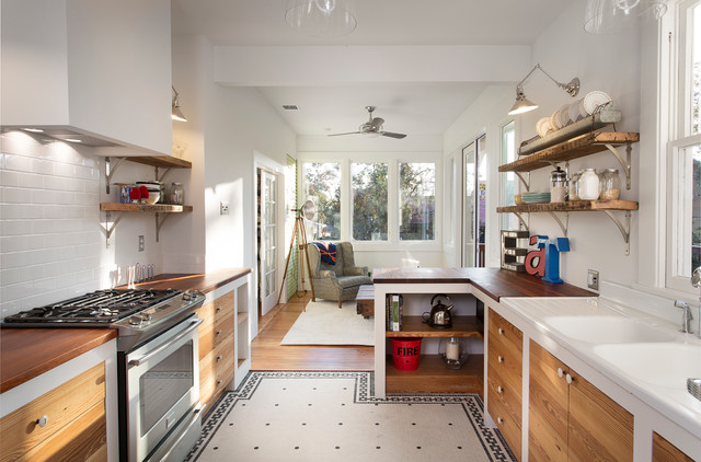 Holtkoetter Kitchen Eclectic with 1930 Kitchen Renovation Beige