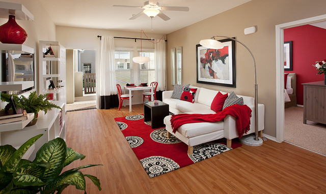 Home Decorators Rugs Living Room Contemporary with Accent Wall Apartment Bamboo