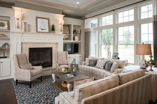 home decorators rugs Living Room Traditional with art above fireplace beige