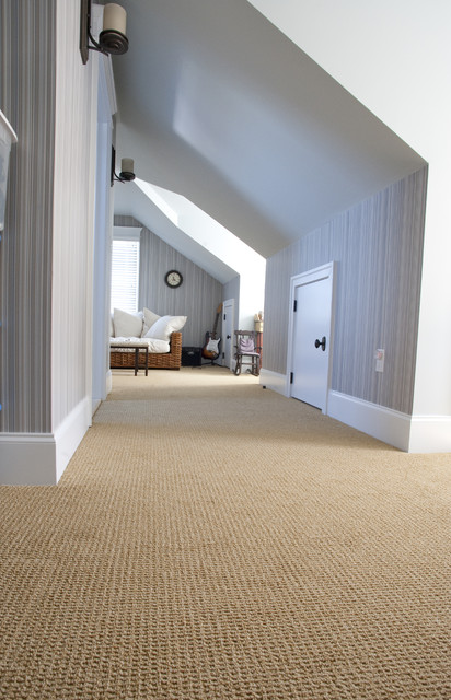 Home Depot Carpeting Hall Contemporary with Attic Baseboards Beige Carpet
