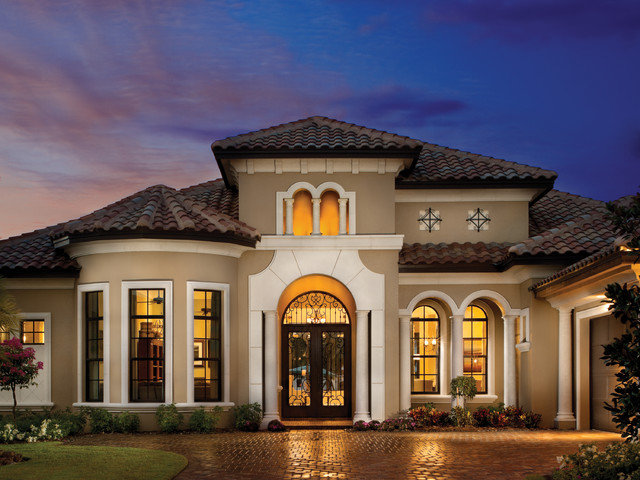 Home Depot Exterior Paint Exterior Mediterranean with Arch Top Windows Bay Window