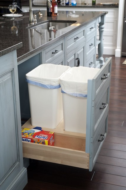 Home Depot Garbage Cans Kitchen Traditional with Custom Cabinetry