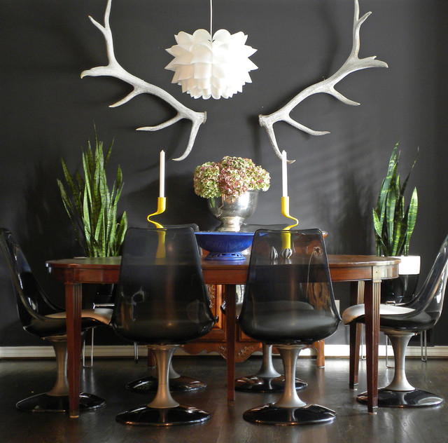 Homes for Sale in Granbury Tx Dining Room Eclectic with Antlers Black Wall Chair