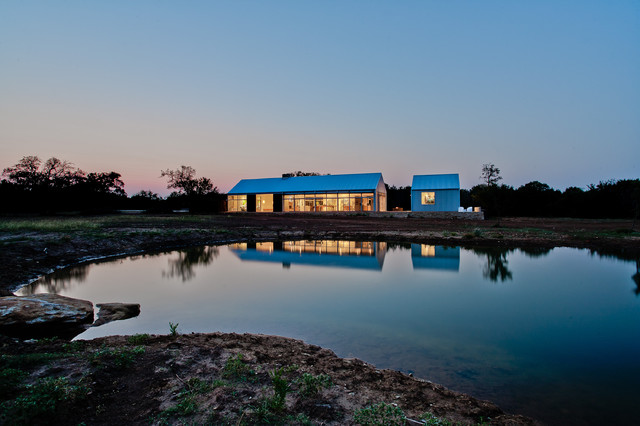 Homes for Sale in Granbury Tx Exterior Contemporary with Barn Gable Roof Glass
