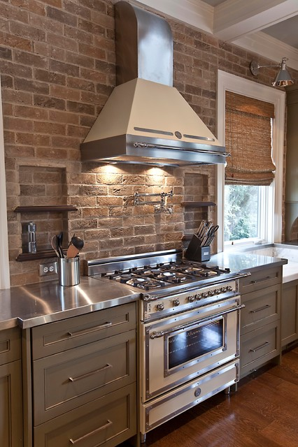 Homes for Sale in Granbury Tx Kitchen Transitional with Appliances Bamboo Shades Brick