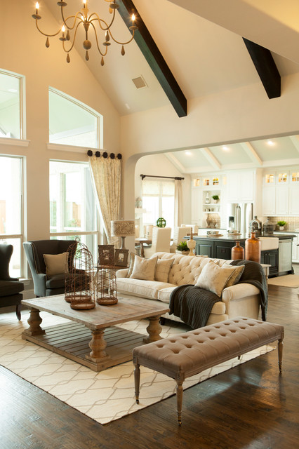 homes for sale in granbury tx Living Room Traditional with beige sofa cathedral ceiling