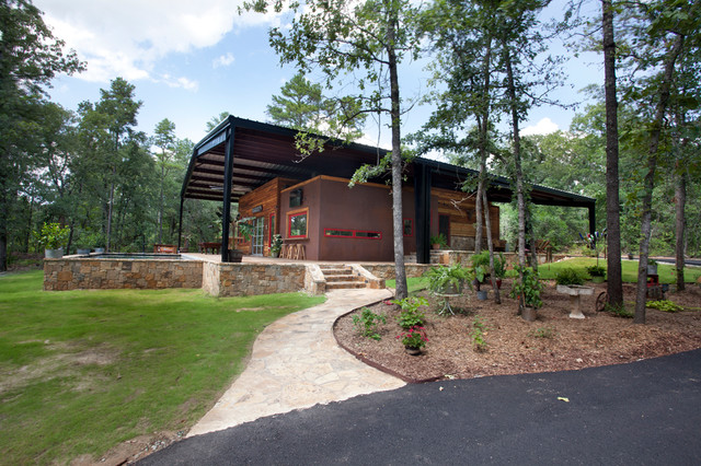 How to Build a Pole Barn Exterior Rustic with Canopy House Grove House