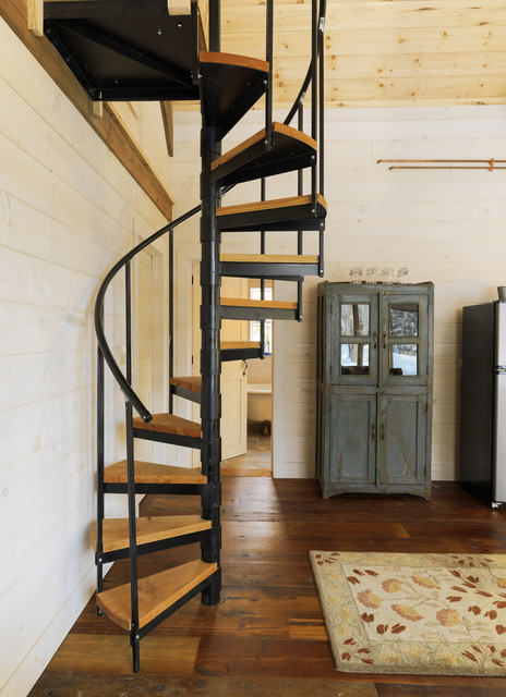 How to Build a Spiral Staircase Staircase Rustic with Cabinet Loft Rustic Rustic