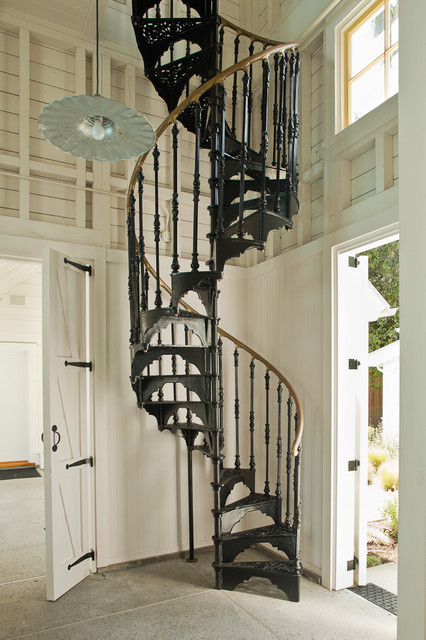 How to Build a Spiral Staircase Staircase Victorian with Barn Door Barn Pendant