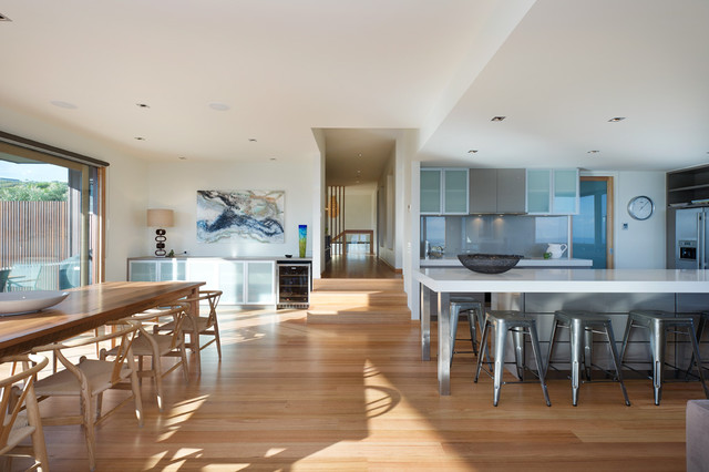 How to Clean Bamboo Floors Dining Room Modern with Frosted Glass Cabinet High Gloss