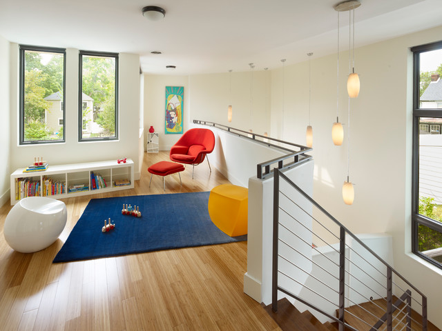 How to Clean Bamboo Floors Kids Modern with Art Blue Rug Bookcase