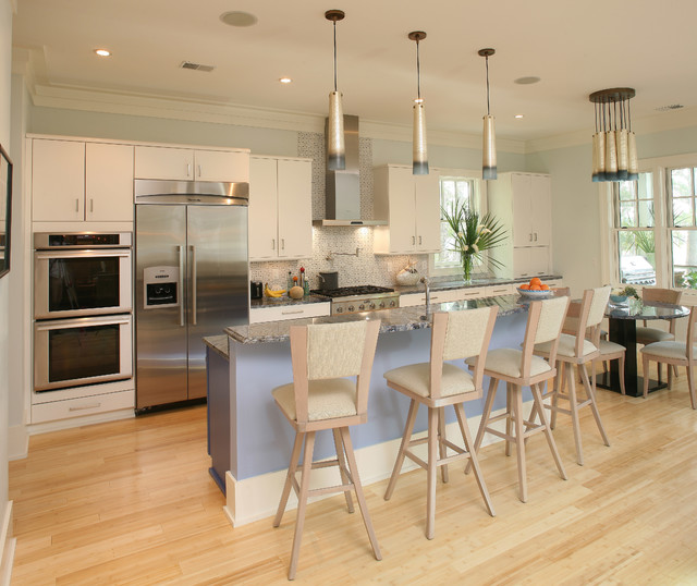 How to Clean Bamboo Floors Kitchen Transitional with Bamboo Flooring Beige Bar