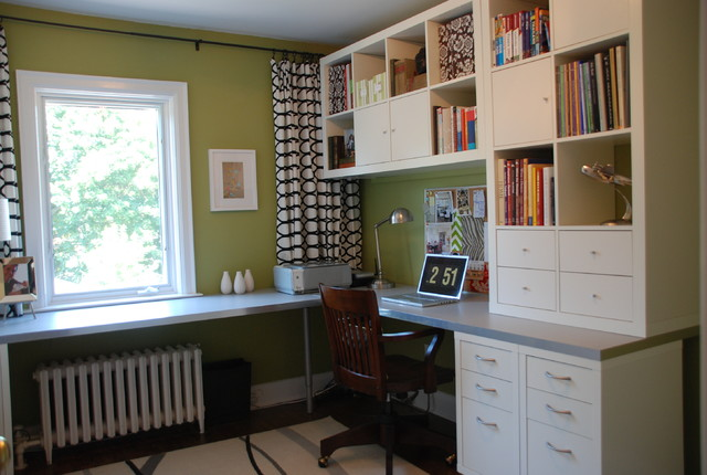 Ikea Blackout Curtains Home Office Transitional with Area Rug Bookshelves Bulletin1