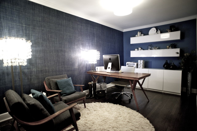 Ikea Credenza Home Office Contemporary with Blue Wall Danish Danish