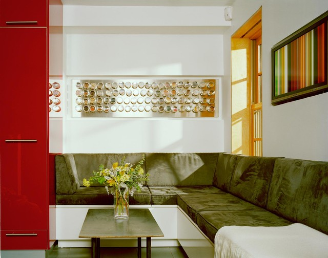 Ikea Spice Rack Bookshelf Living Room Modern with Banquette Built in Seating