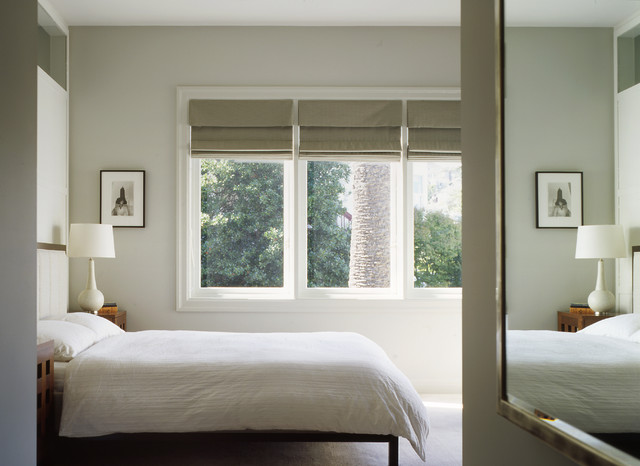Ikea Window Treatments Bedroom Traditional with Drum Lampshade Framed Mirror