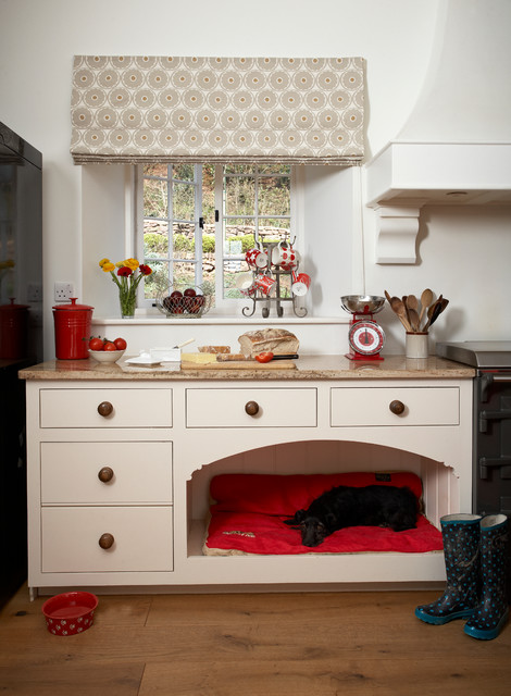 Indestructible Dog Bed Kitchen with Cabinet and Drawer Pulls