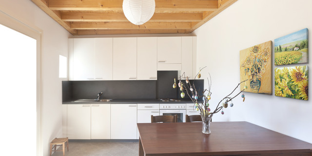 Induction Stoves Kitchen Modern with Accent Wall Canvas Custom