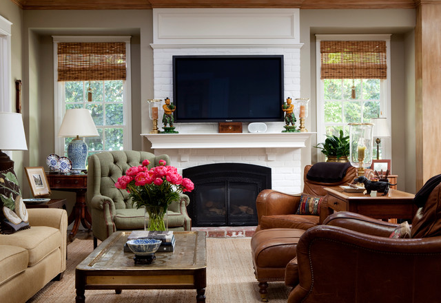 Infrared Fireplace Family Room Traditional with Area Rug Coffee Table