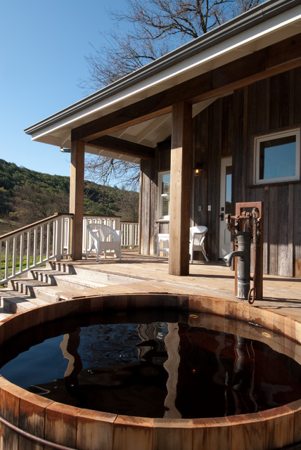 Insinkerator Hot Water Porch Farmhouse with Barrel Tub Deck Guest