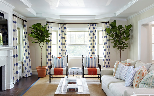 Insulating Curtains Living Room Beach with Blue and White Curtains