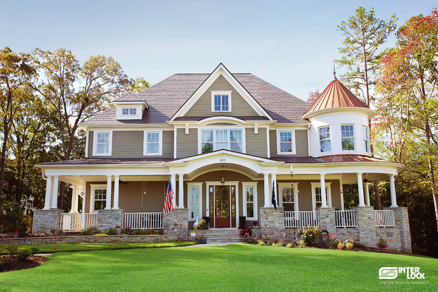 Interlock Roofing Exterior Traditional with Aluminum Roof Best Roof
