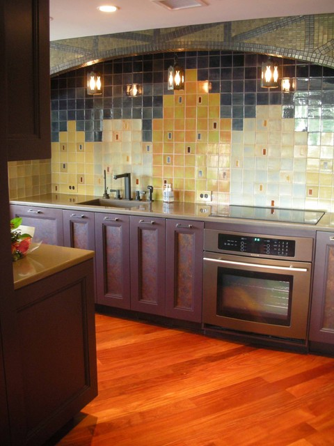 Jenn Air Oven Kitchen Contemporary with Arch Opening Art Deco1