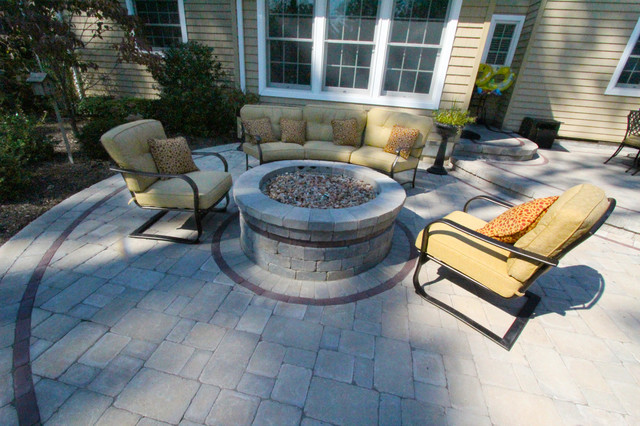 Jerith Fence Patio Traditional with Beautiful Pools Blooming Perennials