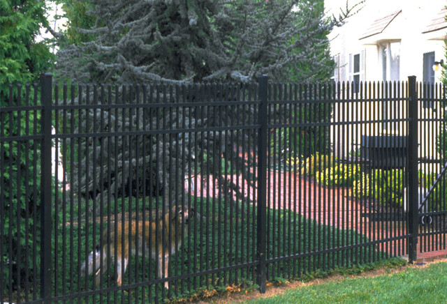 Jerith Fence Spaces Craftsman with Aluminum Fence Aluminum Fencing1