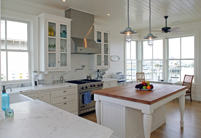 John Boos Butcher Block Kitchen Traditional with Ceiling Fan Eat in Kitchen