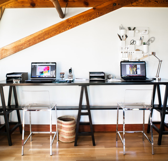 Kangaroo Standing Desk Home Office Contemporary with Drafting Tools Trestle Table
