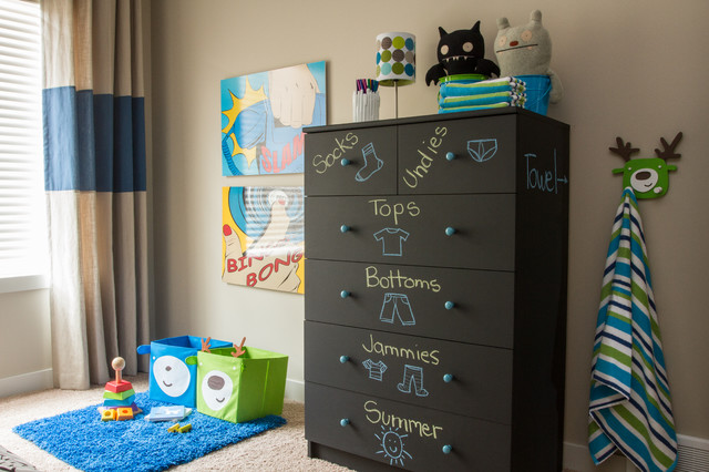 Kas Carpet Kids Contemporary with Black Chest of Drawers