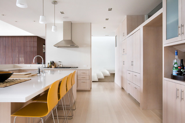Kas Carpet Kitchen Contemporary with Beach House Bleached Wood