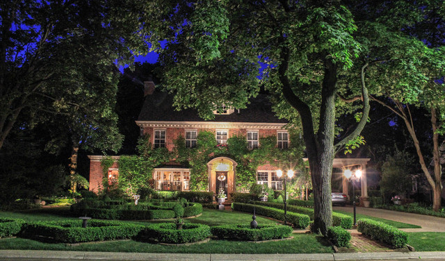Kichler Landscape Lighting Exterior Traditional with Arched Pediment Bay Window