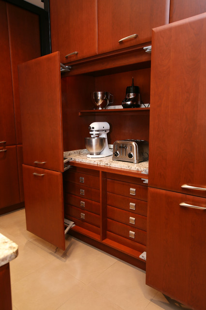 Kitchen Appliance Bundles Kitchen Contemporary with Ceiling Lighting Cherry Wood